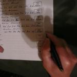 Zahlenschreiben mit Stil, mit Füllfeder