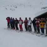 Alpinfahrer in Startposition