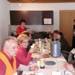 Mittagsrast mit toller Bedienung im Kirchgemeindehaus