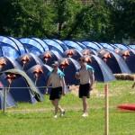 Andere begnügen sich mit einem Platz im Zelt