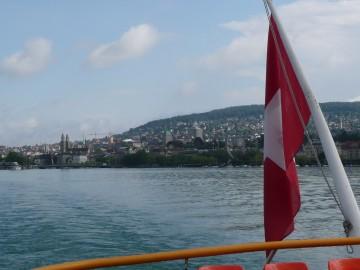 Blick zurück auf Zürich